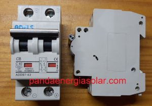 Disjuntor CC Bipolar 40A 600VDC ADDB7-63 ADELS