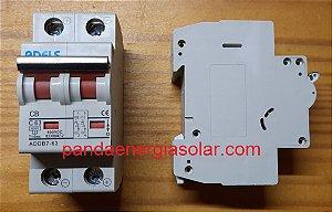 Disjuntor CC Bipolar 63A 600VDC ADDB7-63 ADELS