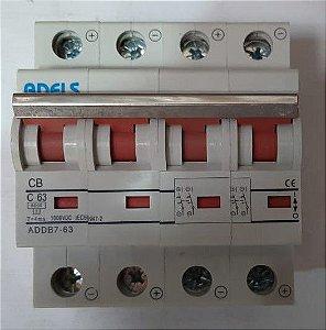 Disjuntor CC 4P 63A 1000VDC ADDB7-63 ADELS