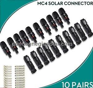 10 Pares conector MC4 30A 1000VCC SOYO