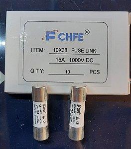 Fusível Solar 10x38 15A 1000VCC gPV CF-10PV FCHFE caixa 10 Peças