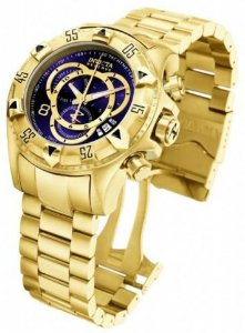 Relógio Masculino Dourado Multi Funcional