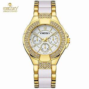 Relógio de Luxo Kingksy