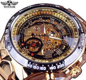 Relógio Winner Golden Luxury