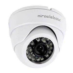 Câmera Miracle Box MB-100 3.6mm Infravermelho Branco cctv