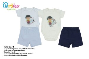 Conjunto de Pijama Turminha Paraiso 6778
