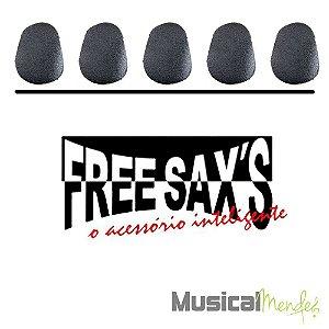 Adesivo Protetor de Boquilha Free Sax - Preto/Transparente