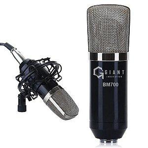 Microfone Bm700 Condensador Cardioide Giant Innovation