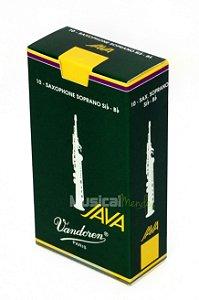 Palheta Vandoren Java Sax Soprano Caixa com 10