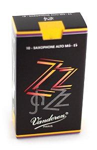 Palheta Vandoren Zz Jazz Caixa Com 10 Unidades - Sax Alto