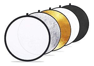 Rebatedor E Difusor Circular 5 Em 1 Com 104cm 110cm + Bolsa