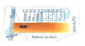 Palheta Sun Acrílica - Sax Alto