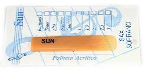 Palheta Sun Acrílica - Sax Soprano