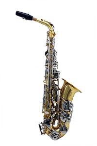 Sax Alto Mib Konig Classic Séries Laqueado com chaves  Prata LN