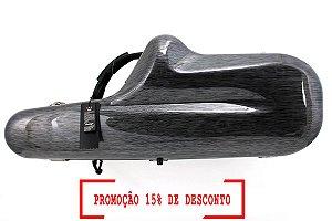Estojo Case Fibra de Vidro Omebaige Profissional para Sax Tenor