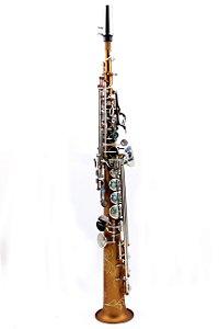 Sax Soprano em Sib Konig Custom Kss - 901 Profissional