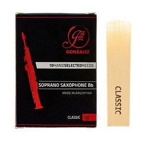 Palhetas Orgânicas Gonzalez Classic- Sax Soprano Sib