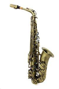 Sax Alto Mib Profissional Konig Master Séries Envelhecido