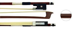 Arco De Violino 3/4 Octogonal De Madeira Com Crina De Animal