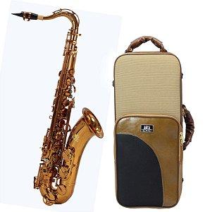 Sax Tenor Sib Profissional Konig Master Séries Gold Copper