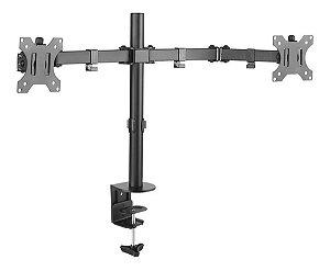 Suporte Para 2 Monitores de 10 A 32 Kg Articulado de Mesa