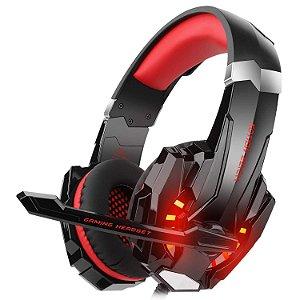 Fone de Ouvido Headset Gamer G9000 Estéreo Kotion Each Com Led Vermelho