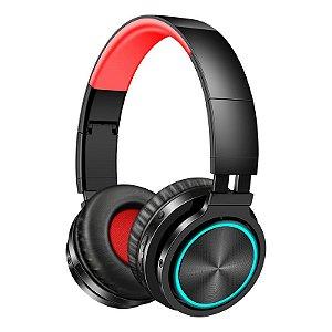 Fone De Ouvido Bluetooth Sem Fio Led Rgb
