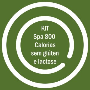 KIT SPA 800KCAL SEM GLUTEN E LACTOSE