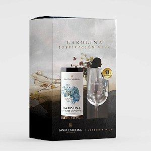 KIT Vinho Carolina Reserva Cabernet Sauvignon 750 ml + Taça de Cristal