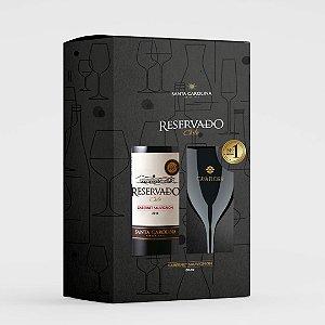 KIT Vinho Santa Carolina Reservado Cabernet Sauvignon 750 ml + Taça de Acrílico