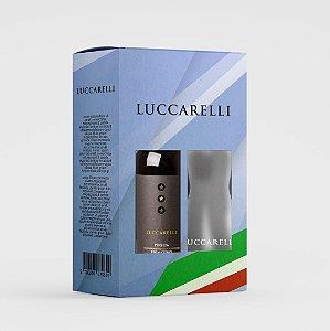 KIT Vinho Luccarelli Primitivo Puglia IGP 750 ml + Mini Decanter de Vidro