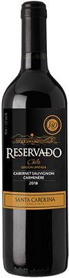 Vinho Santa Carolina Reservado Edição Limitada Cabernet Sauvignon e Carmenére