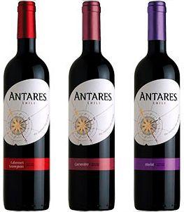 Kit Antares: Vinhos modernos, frescos e de caráter frutado !