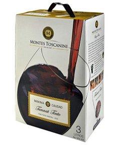 Vinho Montes Toscanini Tannat Bag in Box 3 Litros