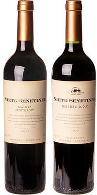 Kit Vinhos Nieto Senetiner: Malbec DOC e Reserva Malbec Petit Verdot