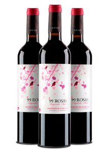 Kit Vinho 99 Rosas Tempranillo Cabernet Sauvignon - 3 unidades
