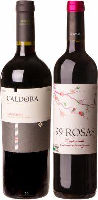Confraria Agosto 2020: Vinhos especiais - Caldora Sangiovese + 99 Rosas Tempranillo Cabernet Sauvignon