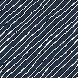 TECIDO 100% ALGODÃO FABRICART COLEÇÃO FALLING IN LOVE - NIGHT BLUE DIAGONAL - PREÇO DE 0,50 x 1,50