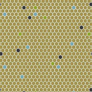 TECIDO 100% ALGODÃO FABRICART COLEÇÃO HONEY BEE - HONEY COMB - PREÇO DE 0,50 x 1,50MT