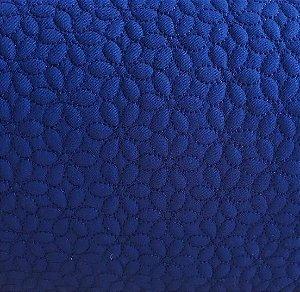TECIDO MATELASSE  SARJA AZUL MARINHO FLOR - PREÇO DE 0,50 X 1,50