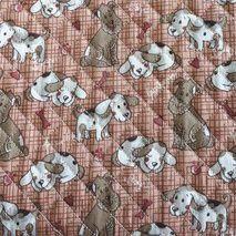 TECIDO MATELASSADO ESTAMPADO MY FRIENDS CACHORRO- PREÇO DE 0.50 x 1,50