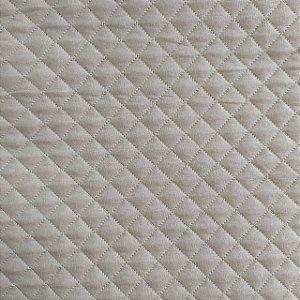 TECIDO MATELASSADO METALIZADO PRATA - PREÇO DE 0.50 x 1,50