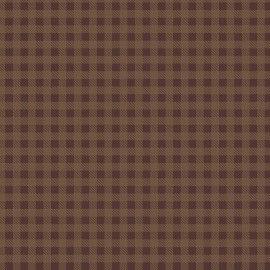 TECIDO 100% ALGODÃO FABRICART- XADREZ - CAFÉ- PREÇO DE 0.50 x 1,50