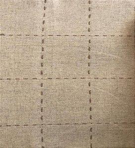 TECIDO LINHO PESPONTADO- COR CRU- PREÇO DE 0.50 x 1,50