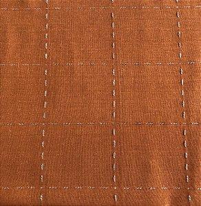 TECIDO LINHO PESPONTADO- COR CARAMELO- PREÇO DE 0.50 x 1,50