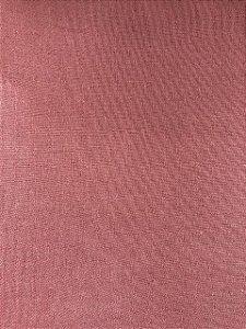 TECIDO LINHO LISO- COR ROSE- PREÇO DE 0.50 x 1,50