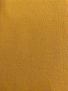 TECIDO LINHO LISO- COR MOSTARDA- PREÇO DE 0.50 x 1,50