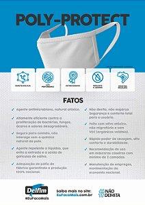 TECIDO POLY-PROTECT ANTIVIRAL CONTRA COVID-19 -BRANCO LISO- PREÇO DE 0.50 x 1,50