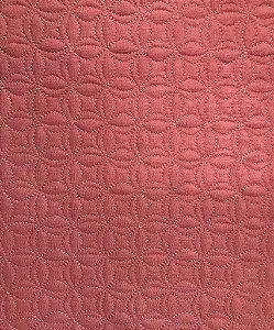 TECIDO MATELASSADO LINHO MINI FLOR DE LOTUS ROSE - PREÇO DE 0,50 X 1,35