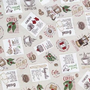 TECIDO ATOALHADO GORGURAO- DOHLER - CAFÉ COM FUNDO BEGE - PREÇO DE 0.50 x 1,50